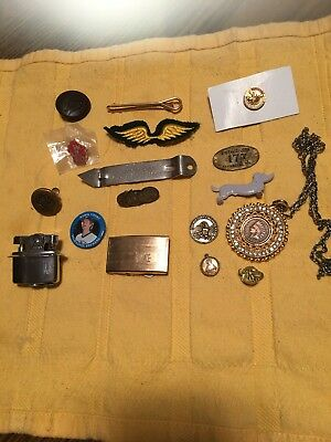 Old Antique Vintage Junk Drawer Estate Lot Lighter Collectible Pin Can Opener