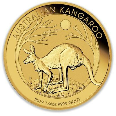 2019 Perth Mint Gold Kangaroo 1/4 oz Bullion Coin (99.99%)