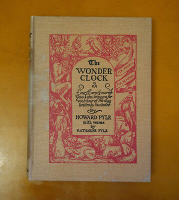 The Wonder Clock by Howard Pyle illustrated 1915 hardcover very good condition