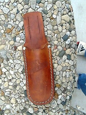 Vintage Dekalb Seed Advertising Leather Knife Sheath.