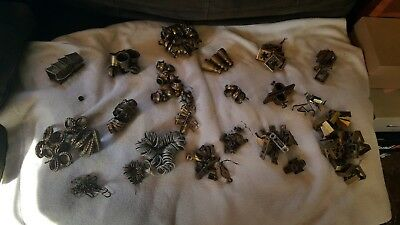 Antique Cast Iron & Brass Victorian Window Sash Locks huge lot Vintage Hardware