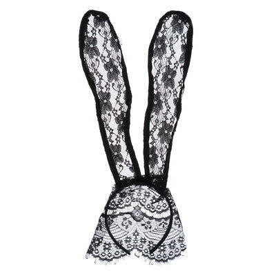 Masquerade Party Long Ears Stirnband Lace Maske Schleier