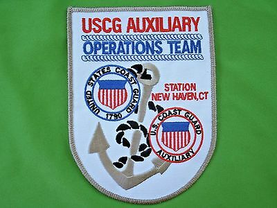 Shoulder Patch USCG US Coast Guard Auxiliary Operations Team  New Haven Patch