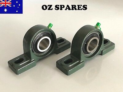 """P205 Pillow Block Housing and Bearing to suit 1"""" inch shaft (pair)"""