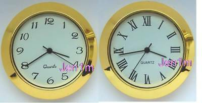 """36.5mm fits 35mm or 1,3/8"""" hole/ Clock/Watch Insert & free spare battery"""