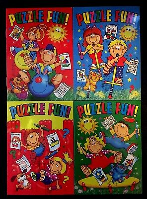 4 X Kids Puzzle Fun Books Activity Pack Fun Education Colouring Children