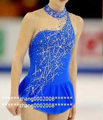 Ice skating dress.New Sapphire Competition Figure Skating dress. Baton Twirling