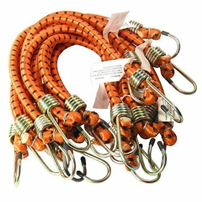 """8 Pack Assorted Sizes 1/2"""" Dia. Heavy Duty Bungee Cords Tie Down Cord Strap"""