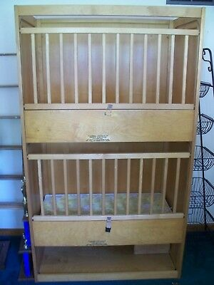"Double Baby Crib, Made of Wood, Pre-Owned, 72""H x 42""W x 24L"""