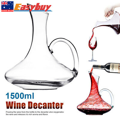1.5L Luxuriou Crystal Glass Lead-free Wine Decanter Carafe Wine Pourer Container