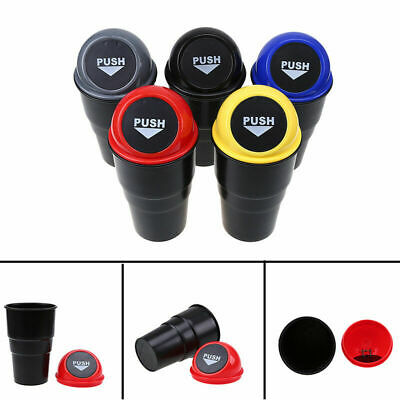 Car Trash Can Garbage Mini Dust Bin Coin Holder Ashtray Cup Case Home & Office