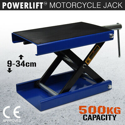 Motorcycle Jack 500KG Scissor Motor Bike Lift Stand Hoist Mini Motorbike Quad