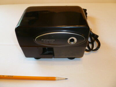 Panasonic Auto Stop Electric Pencil Sharpener, black with suction feet, KP-310
