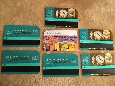 Nyc Grand Central Celebrates Metrocard Lot Of   6 With Paul McCartney New Empty