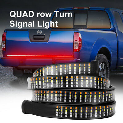 "60"" Inch Truck Tailgate LED Light Bar Brake Reverse Turn Signal Stop Tail Strip"