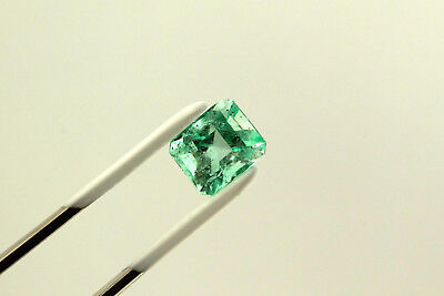 3.0 Carat Emerald Cut Natural Colombian Emerald Loose Gemstone