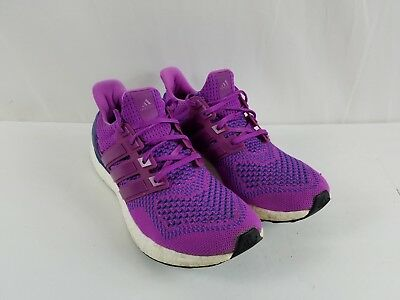 faaf5286e Adidas Ultra Boost 1.0 Women s Primeknit Purple Flash Pink Sz 9.5 (B34051)  Rare