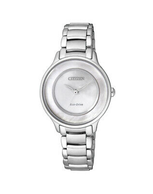 NEW Citizen Ladies Stainless Steel Eco-Drive Watch - EM0380-57D