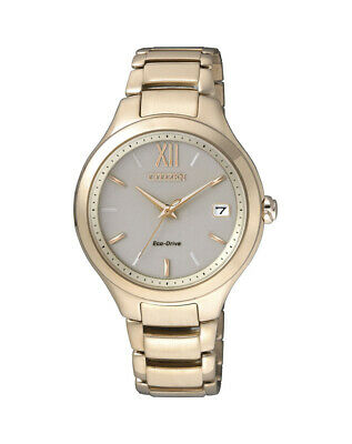 NEW Citizen Ladies Gold Stainless Steel Eco-Drive Watch - EO1163-57P