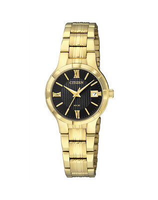 NEW Citizen Ladies Gold Stainless Steel Quartz Watch - EU6022-54E