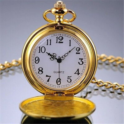 Full-Hunter 1 Pcs Pocket Watch Retro Pendant With Chain Hot Quartz Necklace