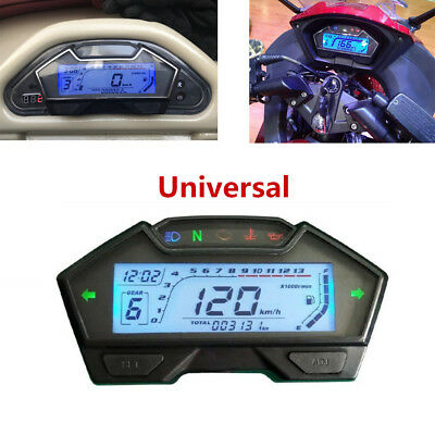 LCD DIGITAL ODOMETER Speedometer RPM Tachometer For all Motorcycle Yamaha  Honda