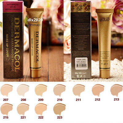 14 Colors Cream Concealer Dermacol High Cover Make-up Foundation Waterproof