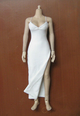 "1/6 female White Dress F 12"" HT TTL CG Phicen Kumik Female doll Model Toy"