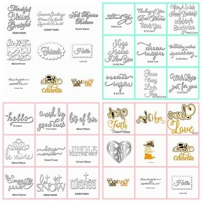 33 Styles Letters Metal Cutting Dies Stencil Scrapbooking Card Paper Embossing