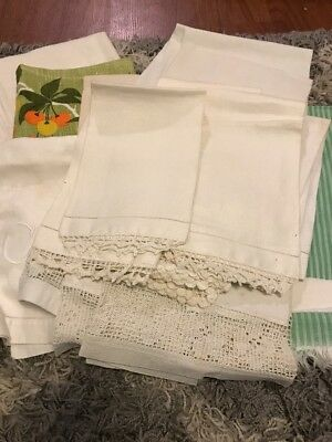 Vintage Collection Of Linen Kitchen Hand Towels