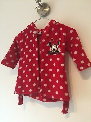 Minnie Mouse Dressing Gown. DISNEY 9-12 Months