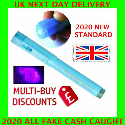 *2 in 1* UV Money Tester Checker Marker Pen Counterfeit Fake Cash Notes Light