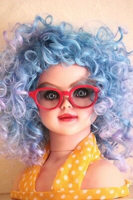 OOAK Custom Doll Repaint | Miss Partin | Large Styling Head with Glasses