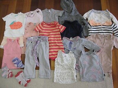 Bulk 19 items - Baby Girl Size 1 (12-18mtns) (Bonds,Seed,Cotton On,Country Road)