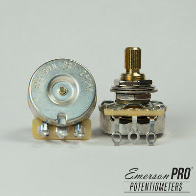Emerson Pro Cts 500K 8% Tolerance Audio Taper Split Shaft Potentiometer