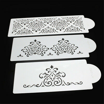 3pcs Heart Crown Lace Stencils DIY Scrapbooking Embossing Cards Cake Spray Mold