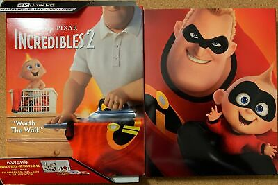 Disney's Pixar Incredibles 2 4K Ultra Hd + Blu Ray Target Exclusive Storybook