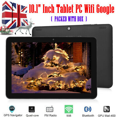 """10.1"""" HD Tablet PC Android 7.0 64GB Google Octa-Core Dual Camera WIFI Tablet UK"""