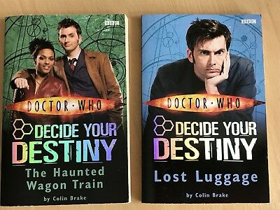 Doctor Who Books! Decide Your Destiny Two Books! Paperback!