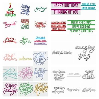 Festival Words Metal Cutting Dies Scrapbook Handcrafts DIY Paper card Templates