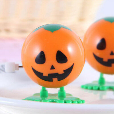 Cute Plastic Mini Jumping Pumpkin Wind Up Toys Clockwork Toy For Kids Toy Gifts
