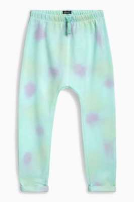 NEXT Joggers Girls 5-6 Years Trousers Aqua Pink Tie Dye BNWT