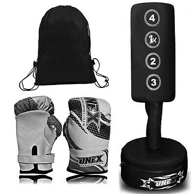 Kids Boxing FREE STANDING Punch bag Set Junior Freestanding Bag + Kids Gloves