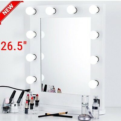 "Chende 26"" Hollywood Makeup Vanity Mirror w/ Light Aluminum Stage Beauty Mirror"
