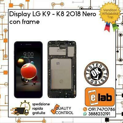 Display Lcd Touch Screen Per Lg K9 K8 2018 Con Frame Lmx210Nmw Nero Schermo