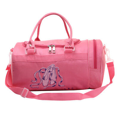 b79d99d268b7 Dance Bag Girls Kids Tote Sequin Duffle Cheer Nylon Gymnastics Ballet Kids  Pink