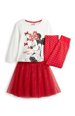 Primark Girls Disney Minnie Mouse Pjs Tutu Nightwear Bnwt All Ages Pyjamas