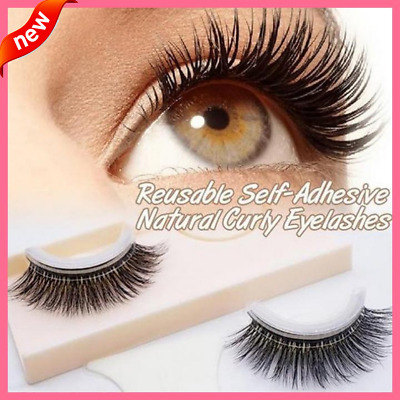 New Arrival 1 pair of Reusable Self-Adhesive Natural Curly Eyelashes Extension N