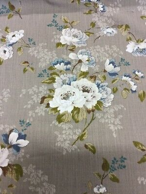 Porter and Stone CONSTANCE Country Floral Cotton Fabric for Upholstery//Curtains.
