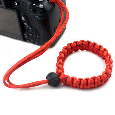 Red Color Hand-made Bracelet Parachute Rope Camera Wristband For Canon Nikon Z